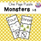 Halloween Numbers 1-5 Puzzles