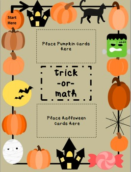 Halloween Activities: Addition, Subtraction, Multiplication, Division Board Game