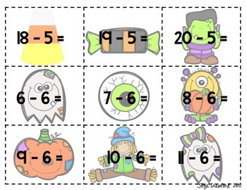 Math Facts: Halloween SPLAT!