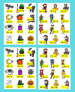 Halloween Math Addition 167 Addition Facts to 20!  Differentiate...