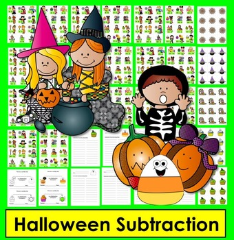 Halloween Math Activities:   Subtraction Facts to 20... Differentiate!