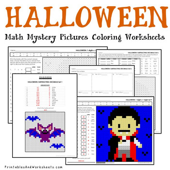differentiated halloween math coloring worksheets addition multiplication etc. Black Bedroom Furniture Sets. Home Design Ideas