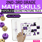 Halloween Math 2nd-3rd Paperless Google Slides PowerPoint
