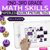 Halloween Math 2nd-3rd Paperless Google Slides PowerPoint
