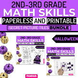 Halloween Math | 2nd-3rd | Paperless + Printable Secret Pi