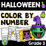 Halloween Math 2nd grade {Color by number}