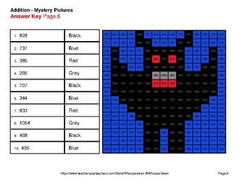 Halloween Math: 3-Digit + 2-Digit Addition - Color-By-Number Mystery Pictures