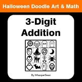 Halloween Math: 3-Digit Addition - Doodle Art & Math