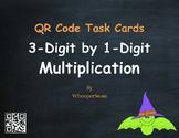 Halloween Math: 3-Digit by 1-Digit Multiplication QR Code Task Cards