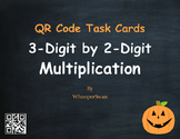 Halloween Math: 3-Digit by 2-Digit Multiplication QR Code Task Cards