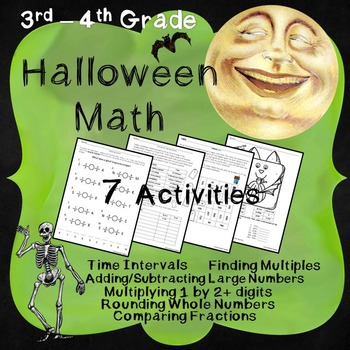 Halloween Math - 3rd and 4th Grade