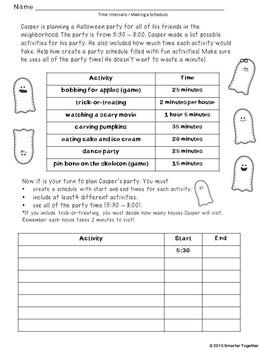 Halloween Math - 3rd and 4th Grade