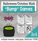 Halloween Math 3rd Grade+ Bump Games Bundle