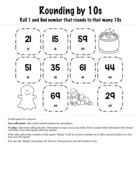 Halloween Math 3rd Grade+ Bump Games Bundle
