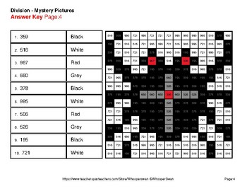 Halloween Math: 4-Digit by 1-Digit Division - Color-By-Number Mystery Pictures