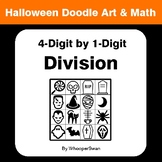 Halloween Math: 4-Digit by 1-Digit Division - Doodle Art & Math
