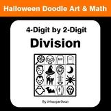 Halloween Math: 4-Digit by 2-Digit Division - Doodle Art & Math