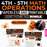 Halloween Math | 4th-5th | Paperless + Printable Secret Pi