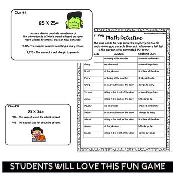 Halloween Math 4th Grade Multiplication Games 4.NBT.5