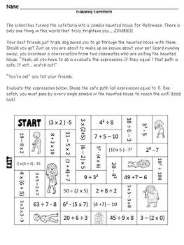 Halloween Math - 5th and 6th Grade