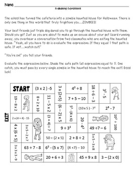 Halloween Math - 5th and 6th Grade by Smarter Together | TpT