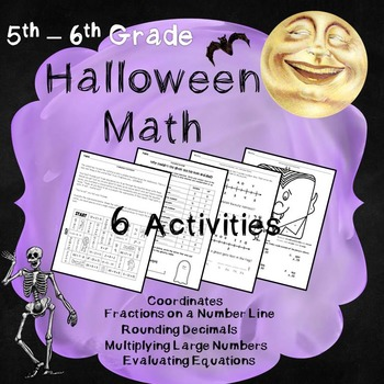 Halloween Math - 5th and 6th Grade