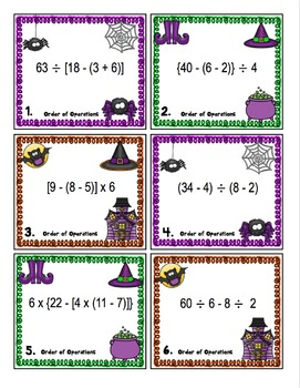 Halloween Math - 5th Grade