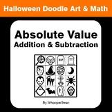 Halloween Math: Absolute Value - Addition & Subtraction - Doodle Art & Math