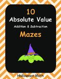 Halloween Math: Absolute Value Maze   - Addition & Subtraction