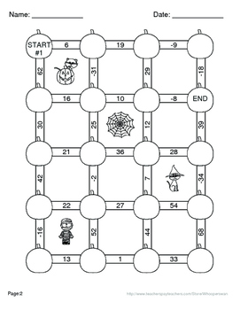 Halloween Math: Absolute Value Maze   - Addition & Subtraction