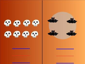 Halloween Math Activites for numbers 1-10