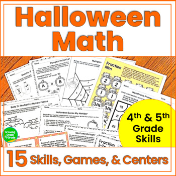 Halloween Math Activities 4th and 5th Grade