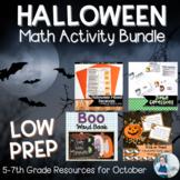 Halloween Math Activities Bundle for 4th-8th Grade | Dista