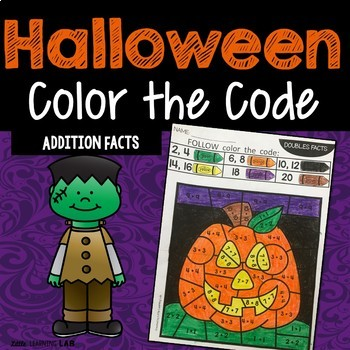 Halloween Math Activities | Color by Code | Addition Fact Fluency