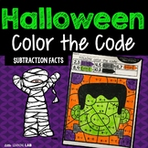 Halloween Color by Code Subtraction
