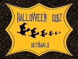 Halloween Math Activities: Decimals Quiz 5th 6th
