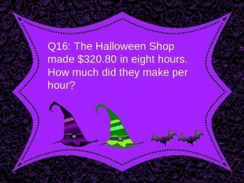 Halloween Math Activities: Decimals Quiz 5th 6th