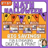 Halloween Math Activities Digital and Print BUNDLE Upper E