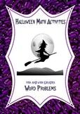 Halloween Math Activities: Fraction, Decimal, Percent Word Problems