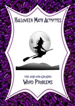 halloween math activities fraction decimal percent word problems. Black Bedroom Furniture Sets. Home Design Ideas