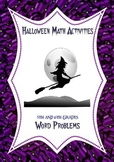 Halloween Math Activities: Fraction, Decimal, Percent Word