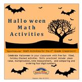 Halloween Math Activities: Grade 4,
