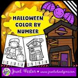 Halloween Math Activities (Halloween Color By Number)