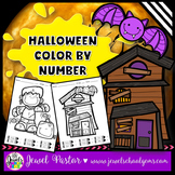 Halloween Math Activities (Halloween Color By Number Pages)