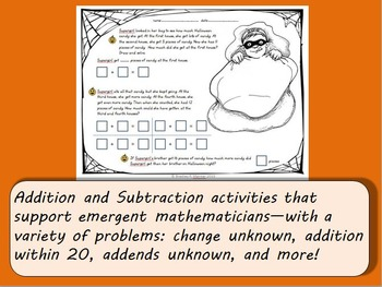 Halloween Math Activities (K-2) Addition and Subtraction Practice