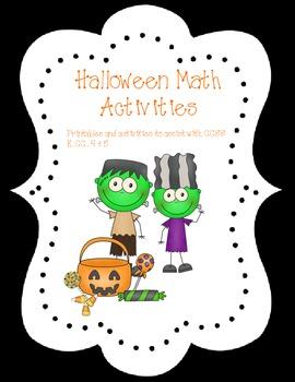 Halloween Math Activities  K.CC. 4 and 5
