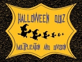 Halloween Math Activities: Multiplication and Division Quiz