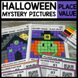 Halloween Math Mystery Pictures Place Value Worksheets