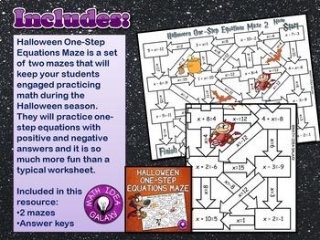 Halloween Math Activities Bundle for Middle Grades