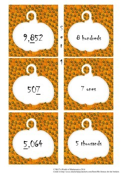 Halloween Math Activities: Place Value Games